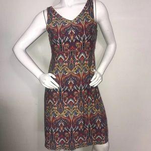 Athleta Santorini V Neck Dress Medium Tribal Print
